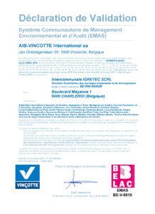 Certificat EMAS-2016