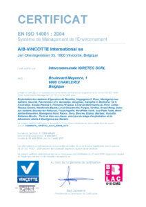 Certificat ISO14001-2016